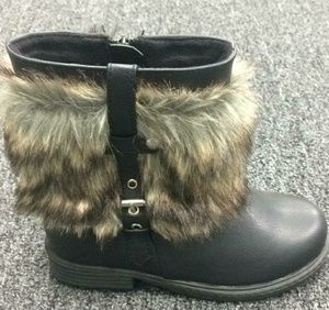 ⛅Just In⛅ Stylish Girls Faux Fur Shorts Boots